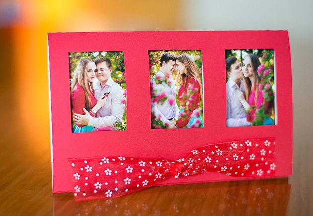 Приглашения на свадьбу с фото своими руками