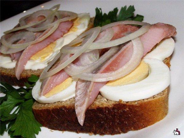 Рецепт бутерброды из селедки
